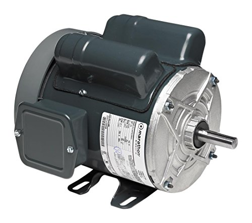 Marathon 5KC46PN0359Y Instant Reversing Motor, 1 Phase, TEFC, Rigid Base, Ball Bearing, 3/4 hp, 1800 rpm, 1 Speed, 115/230 VAC, 56 Frame, Capacitor Start
