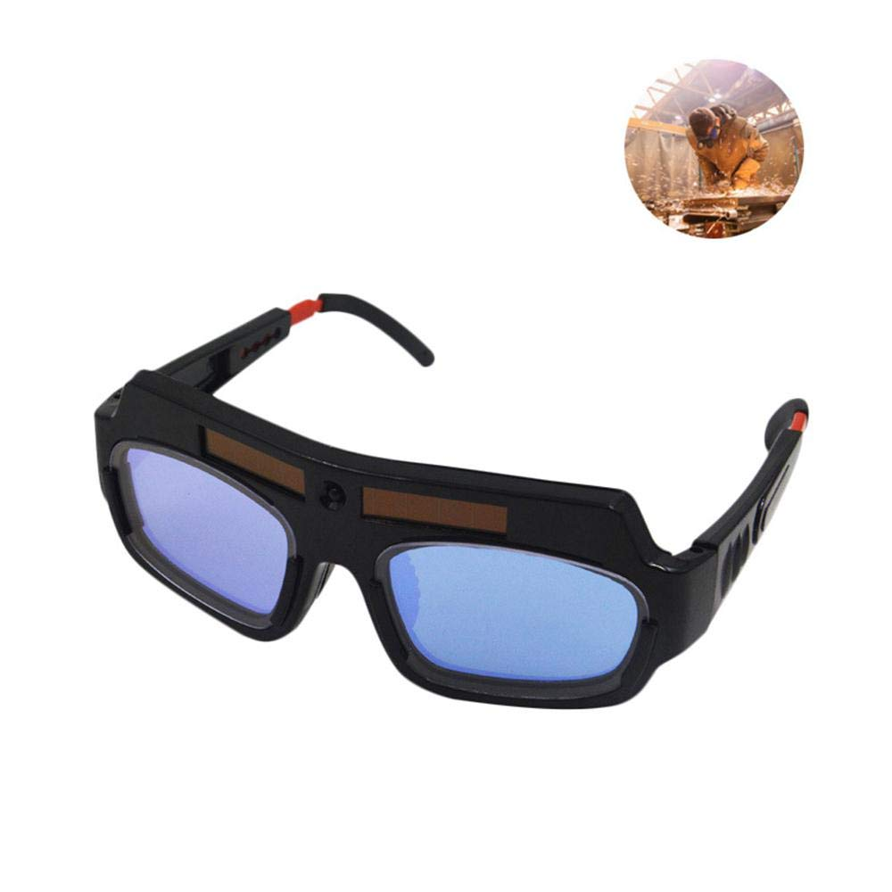Welding Glasses Volwco Welding Glasses Auto Darkening Solar Auto Darkening Welding Goggles for Mig Tig Arc Weld Grinding Welding Safety Glasses