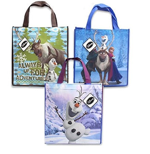 Disney Frozen Movie Character Trick or Treat Bag (10 Bags Assorted) (Frozen Trick Or Treat Bag)