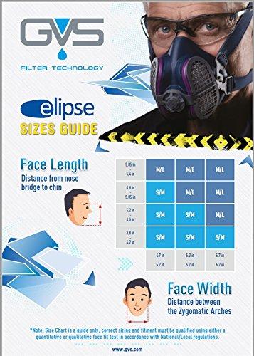 gvs elipse p100 half mask respirator & filters