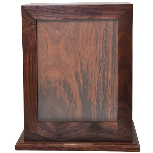 Memorial Gallery SWH-005L Elegant Photo Cremation Wood Urns, Full Size