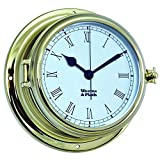 Weems and Plath Endurance II 135 Quartz Clock with Roman Numerals, Brass