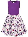 Bonny Billy Little Girl's Cotton Floral Tank Dresses for Kids 4-6x Yrs Purple