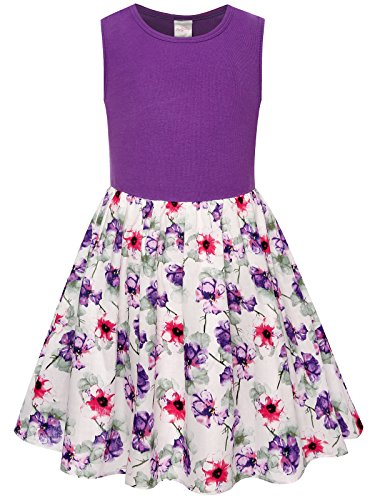 Bonny Billy Girls Easter Summer Cotton Tanks Kids Clothes Dress Size 7 8 Purple -