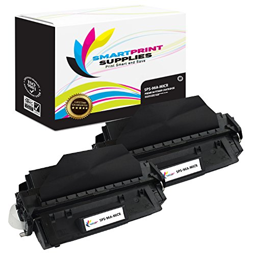 Smart Print Supplies C4096A 96A MICR Black Premium Compatible Toner Cartridge Replacement for HP LaserJet 2100 2200 Series Printers (5,000 Pages) - 2 Pack - Laserjet 2100 Printer