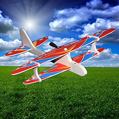 EAPTS Hot Electric Hand Throw Flying Glider Plane Toys Flying in The Sky for Long Time Foam Aeroplane Model Outdoor Sports (A01): Toys & Games