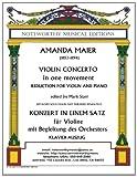 Violin Concerto in One Movement, Amanda Maier, 1495276163