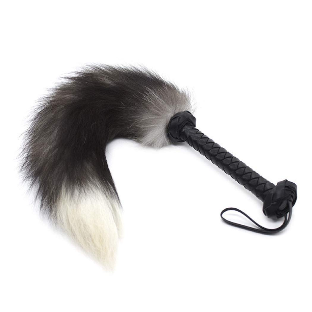 Costumes Fox Tail Whip - Furry Tail for Halloween Stage Show Role Play, Cosplay Lingerie Accessories Gray by HIPLAYGIRL