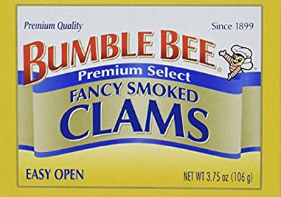 Bumble Bee Premium Select Fancy Smoked Clams, 3.75 Ounce Cans, 12 Count