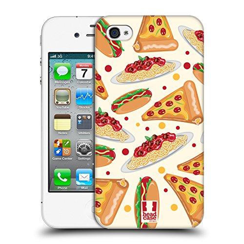 Head Case Designs Pizza Delizie Cover Retro Rigida per Apple iPhone 4 / 4S