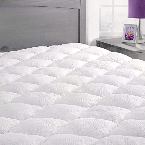 Cover Pillow Top (ExceptionalSheets Rayon From Bamboo Mattress Pad Fitted Skirt - Extra Plush Cooling Topper - Hypoallergenic - Made in the USA, King)