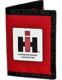 Nylon Trifold Wallet Red