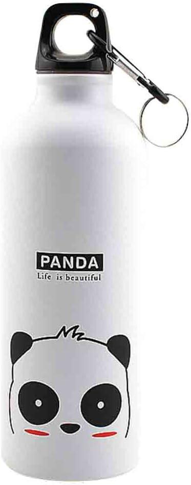 PRENKIN Botella de 500 ml Los Animales encantadores de Deportes al Aire Libre portátiles Aluminio del Modelo de la Botella Animales Botella Agua de la aleación de los niños de Dibujos Animados patrón