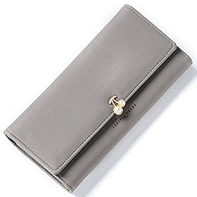 4d20e6412fadc9 Amazon | ピンク他全6色 レディース財布 財布 レディース 可愛い財布 (A7611-8) (グレー) | ノーブランド品 | 財布