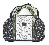 Victoria's Secret PINK Travel Duffle Bag Black White Neon Floral