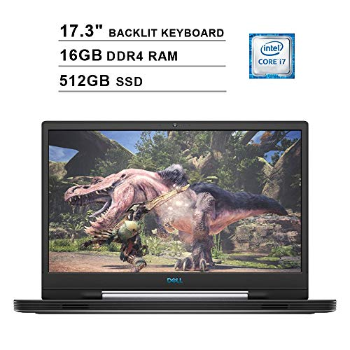 2019 Dell G7 17 7790 17.3 Inch FHD Gaming Laptop (9th Gen Intel 6-Core i7-9750H up to 4.50 GHz, 16GB DDR4 RAM, 512GB SSD, NVIDIA GeForce RTX 2060, RGB Backlit Keyboard, Windows 10) (Abyss Gray)