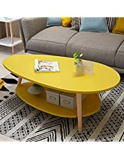ViscoLogic Aston 2-Tier Modern Mid-Century Coffee Table/Center Table/Side for Living Room, Bedroom (Yellow)�