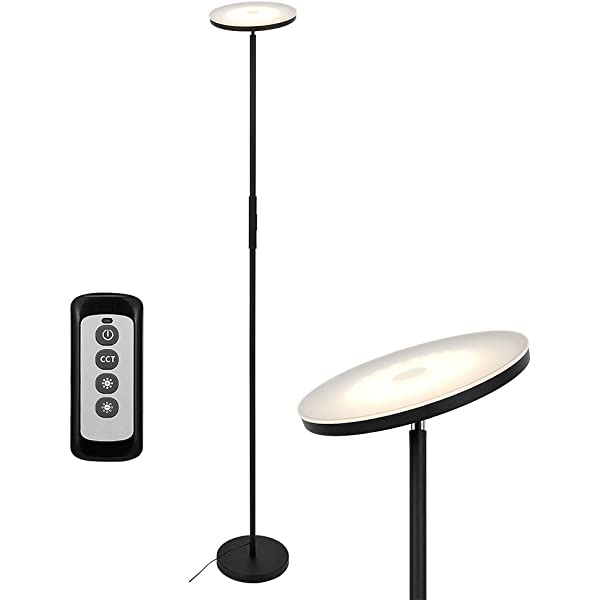 Lámpara de Pie 30W Regulable (Control táctil/Control remoto ...