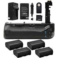 Battery Grip Bundle F/ Canon EOS 7D Mark II: Includes BG-E16 Replacement Grip, 4-Pk LP-E6 / LP-E6N Replacement Long-Life Batteries, Charger, UltraPro Accessory Bundle
