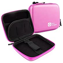 DURAGADGET Premium Quality Hard 'Shell' EVA Case in Pink with Carabiner Clip for the NEW Panasonic Lumix DMC-TZ70 & Panasonic Lumix DMC-TZ57