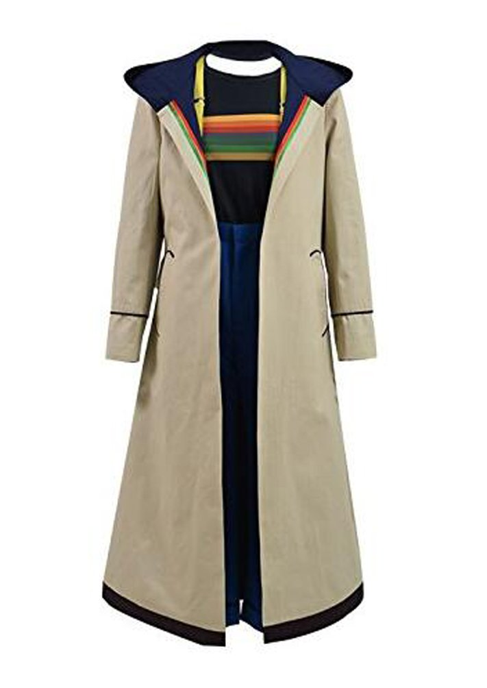 Xiao Maomi 13th Doctor Womens Cosplay Costume Halloween Trench Coat Full Set (L, Full Set 1)