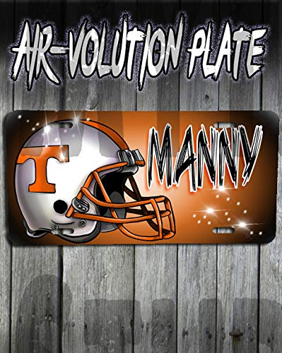 Personalized Airbrush Football Helmet License Plate Tag