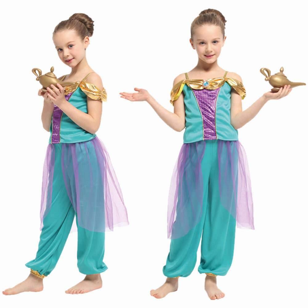 Amazon Com Genie Girl S Costume 2 Piece Set Fun For Dress Up Or