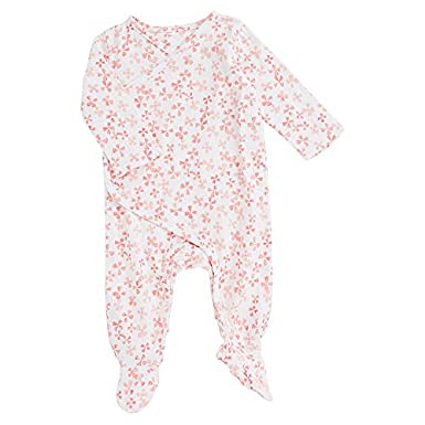 aden + anais Baby Girls Long Sleeve Kimono One-Piece, Sketch Hearts AA1004-SKHG