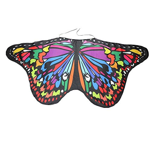 NUWFOR Halloween/Party Prop Soft Fabric Butterfly Wings Shawl Fairy Ladies Nymph Pixie Costume Accessory ?B-b?One Size? ()