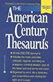 The American Century Thesaurus, Laurence Urdang, 0446672254