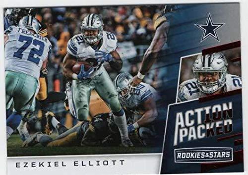 2017 Panini Rookies and Stars Football Action Packed #2 Ezekiel Elliott Cowboys