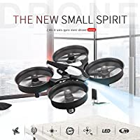 ECLEAR Mini Foldable RC Drone RTF 4 Channel 2.4GHz 6-Axis Gyro Remote Control Quadcopter Toys for Adult Kids Gift
