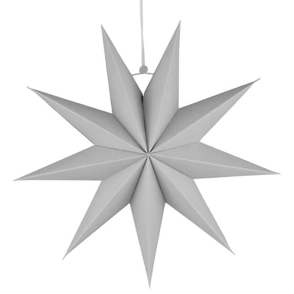 12 pulgadas Good01 Farolillo de estrella de 30 cm dise/ño de estrella de 9 puntas para colgar en la habitaci/ón de los ni/ños Amarillo