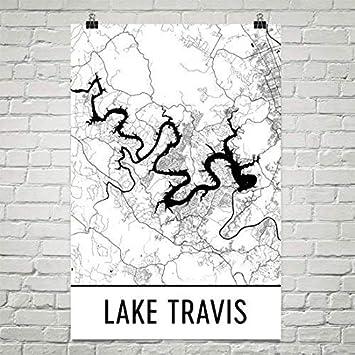 Austin Texas Karte.Lake Travis Texas Austin Art Austin Karte Lake Travis Tx Texas