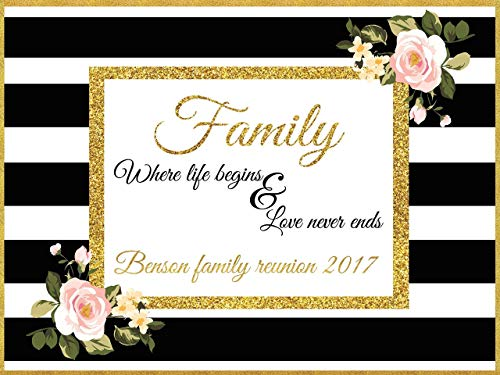 Custom Home Décor Family Reunion Poster, Personalized Family Backdrop, Signs, Party Decoration, Family banner Party Banner Wall Décor, Handmade Party Supply Poster Print Size 24x36, 48x24, 48x36]()