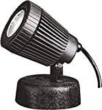 Kichler Lighting 15191BK 12-Volt Low Voltage Underwater Pond Light with Heat Resistant Flat Glass Lens, Black