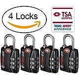 Forge TSA Luggage Locks - Open Alert Indicator, Easy Read Dials, Alloy Body