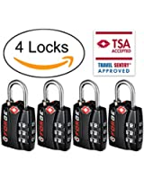 Forge TSA Luggage Locks - Open Alert Indicator, Easy Read Dials, Alloy Body