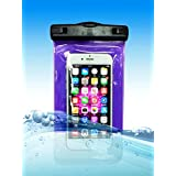 """Universal Waterproof Case, Sealz CellPhone Dry Bag for iPhone 6s/6s Plus,iPhone 6/6 Plus,iPhone 5/5S/5C/SE,Samsung Galaxy S7/S7 Edge/S6/S6 Edge,Samsung Galaxy Note 5/4/3 up to 6.0"""" diagonal(Clear)"""