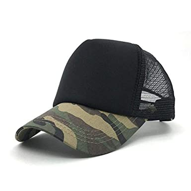 elepbaba Cap Camouflage Mesh Hat Cap for Men Women Composite Material Cap Casual Sports Gorras Dad Hats at Amazon Mens Clothing store: