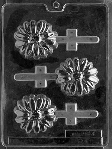 Daisy Pop Candy Molds - Cybrtrayd Life of the Party IC001 Daisy Pop Ice Cream Chocolate Candy Mold in Sealed Protective Poly Bag Imprinted with Copyrighted Cybrtrayd Molding Instructions