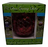 Mosaic Glass Gazing Globe - Hand Blown Red Glass