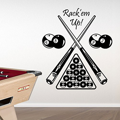 Pool Table Set Kids American Billiards New Billiard Wall Transfers Stickers New Wall Decal Mural Décor Diy Deco Removable Wall Decals Colorful Stickers A314 by Vinyl Concept