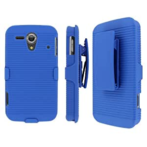 Blue Hard Stand Cover Case for Kyocera Hydro Edge C5215 S415Y