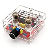 WINGONEER XH-A201 HiFi 6J1 Class A Bile Tube Preamplifier Amplifier Audio Finished Board with Acrylic Chassis