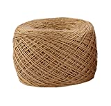 Natural Jute Rope 500 Meters,1640 ft,1mm Hemp Rope For Arts Crafts Gift Wrapping