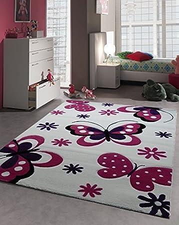 Teppich 160x230  Amazon.de: Kinder Teppich Schmetterling Kinderzimmer Spielteppich ...
