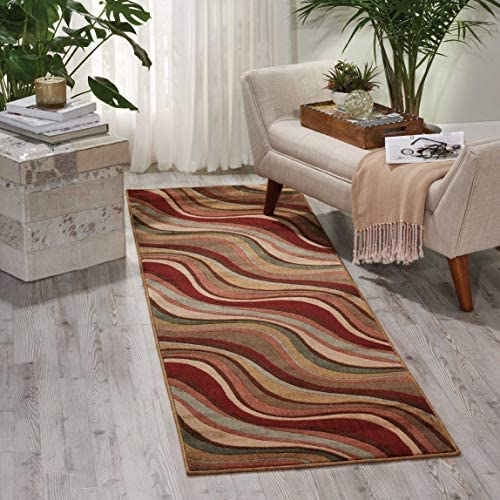 Nourison Somerset Wave Area Rug Multicolor 2' x 5'9″ Runner 6' Runner Runner