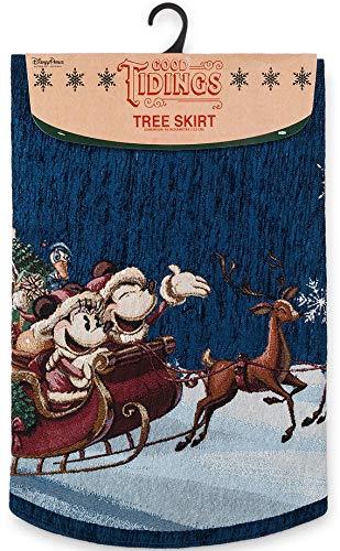 Disney Parks Santa Mickey and Minnie Mouse Tree Skirt