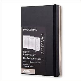 amazon moleskine 2016 project planner 12m pocket black soft